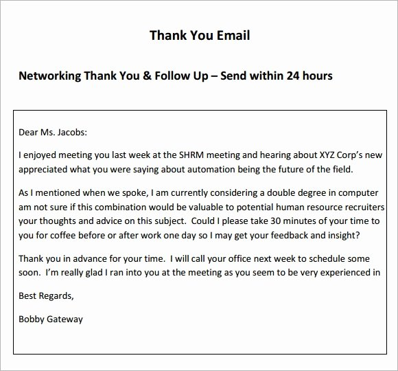 Thank You Email Template Awesome Free 4 Thank You Email Samples In Pdf