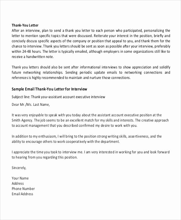 Thank You Email Template Beautiful Sample Professional Thank You Letter 7 Documents In Pdf