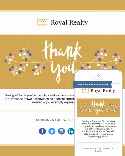 Thank You Email Template Lovely Thank You Email Templates