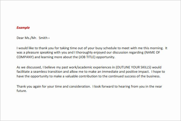 Thank You Email Template New 14 Thank You Email after Interview Doc Excel Pdf