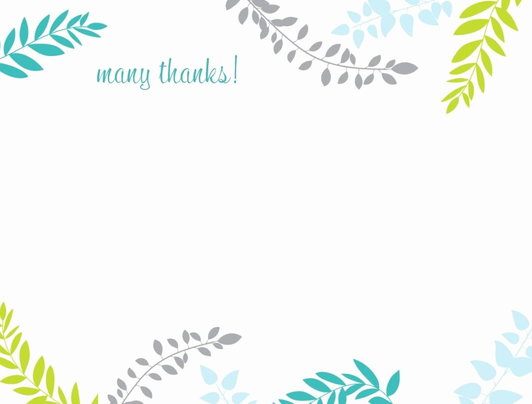 Thank You Letter Templates Awesome Printable Thank You Card Template