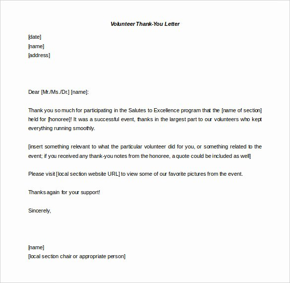 Thank You Letter Templates Inspirational 41 Free Thank You Letter Templates Doc Pdf