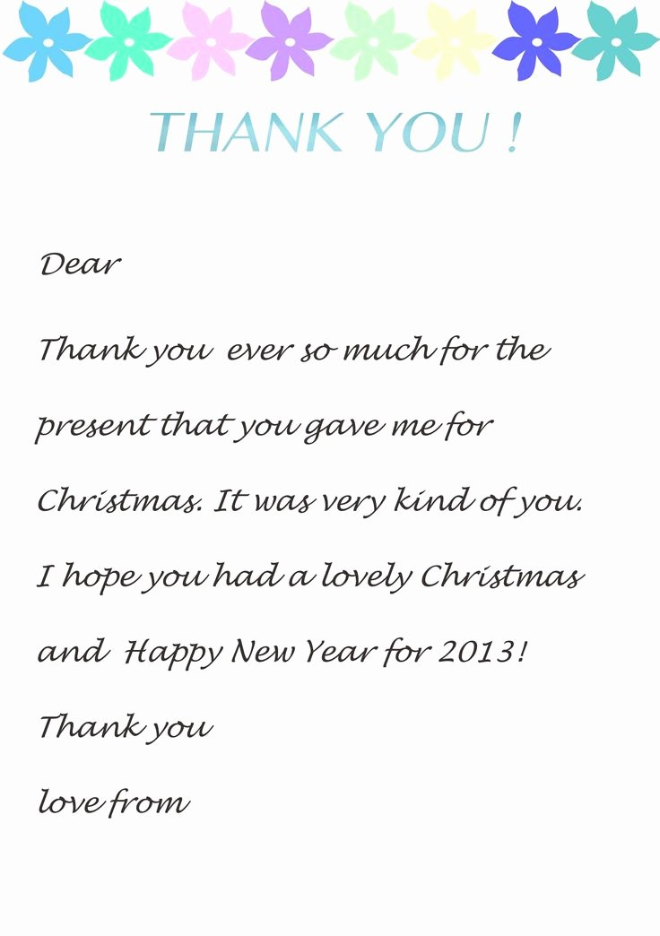 Thank You Letter Templates Unique Thank You Letter Template for Kids