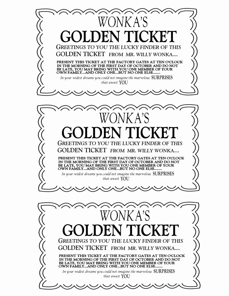 Ticket Template for Pages Beautiful Golden Ticket On Pinterest