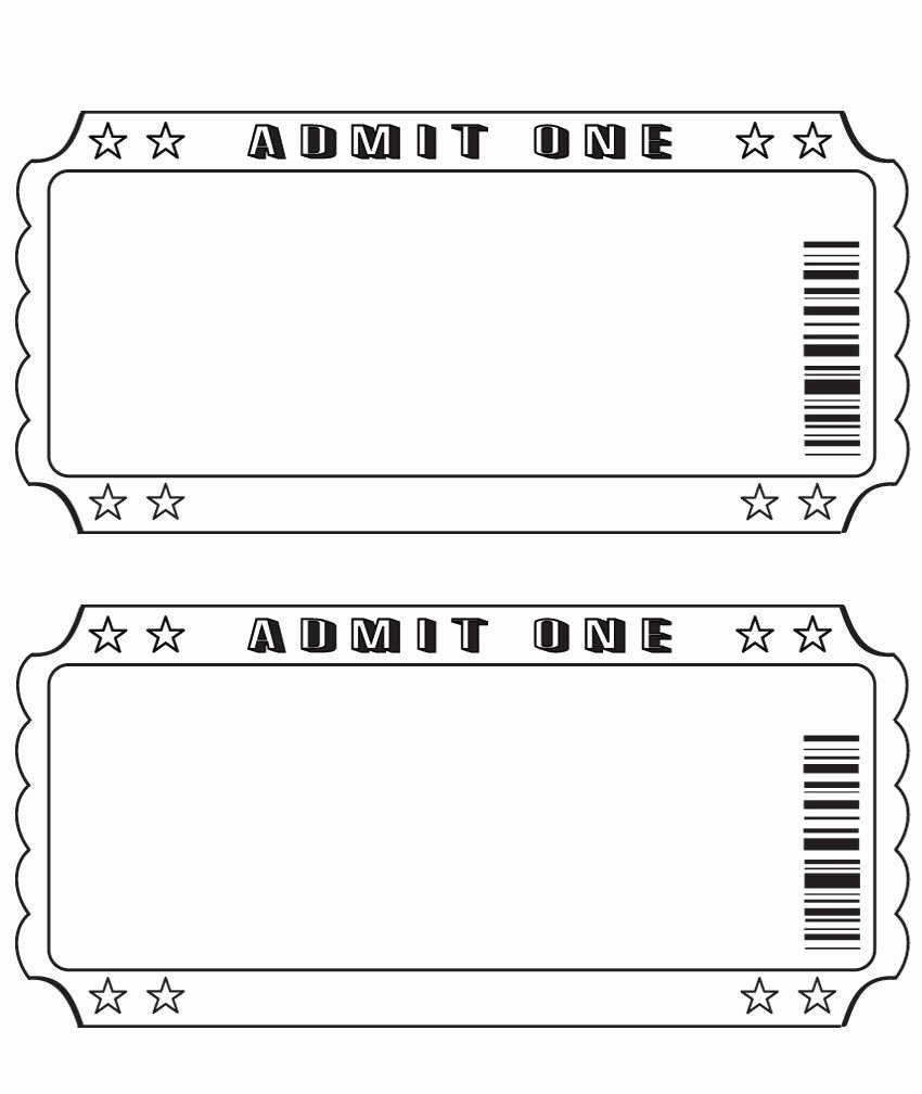 Ticket Template for Pages Unique Blank Ticket … Diy and Crafts