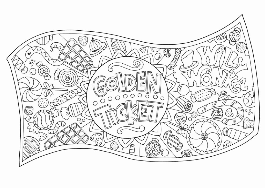 Ticket Template for Pages Unique Free Golden Ticket Colouring Download