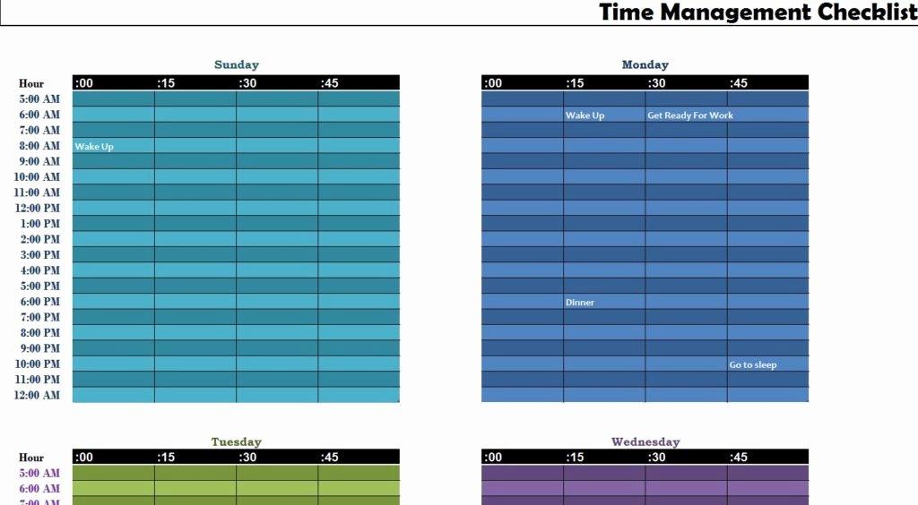 Time Management Sheet Template Elegant Time Management Sheet