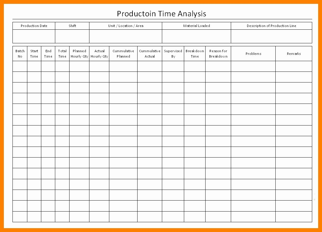 Time Study Template Excel Inspirational Time Study Template Excel Free