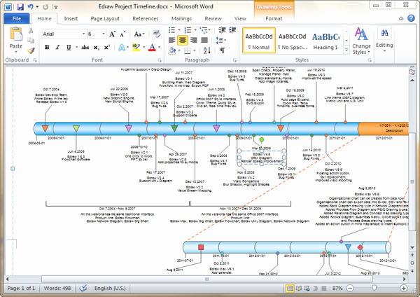 Timeline Template for Word Awesome Timeline Templates for Word