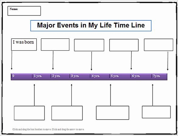 Timeline Template for Word Elegant 7 Personal Timeline Templates – Free Word Pdf format