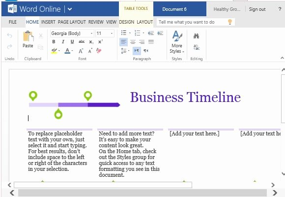 Timeline Template for Word Fresh Business Project Timeline Template for Word Line