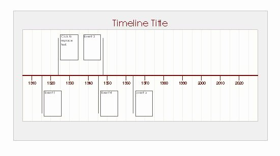 Timeline Template for Word Inspirational Ms Excel Timeline Template