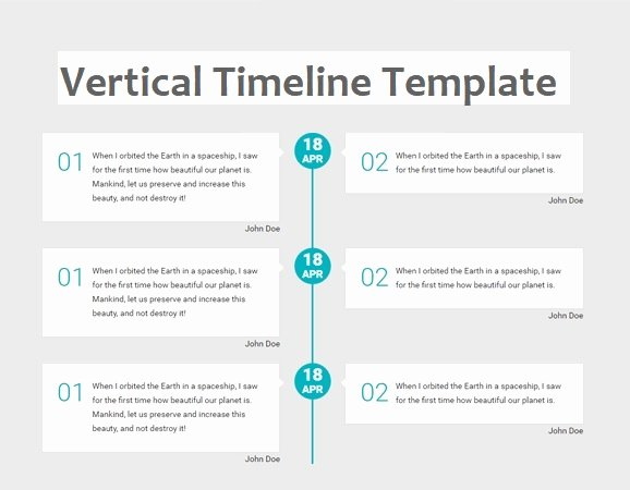 Timeline Template for Word Luxury Vertical Timeline Templates
