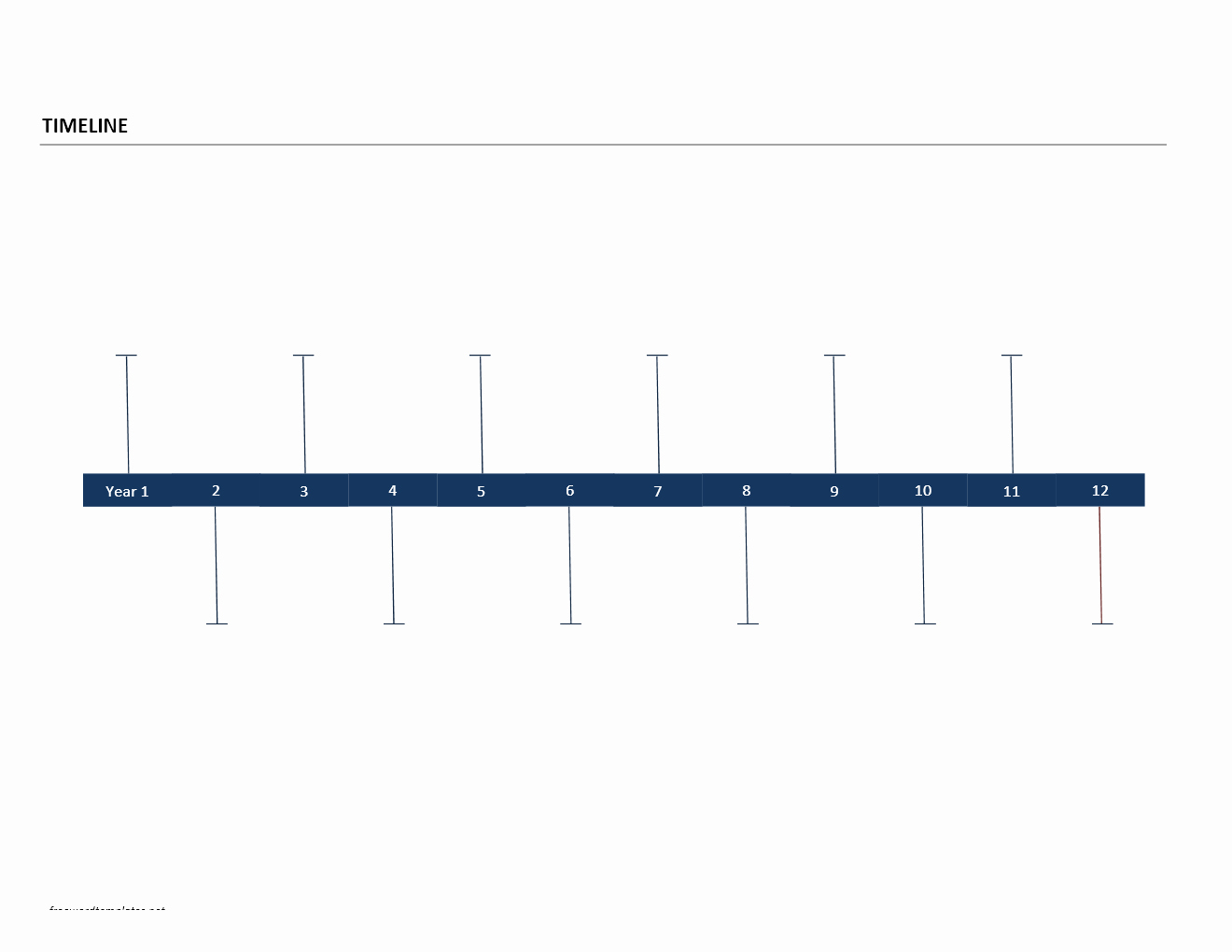 Timeline Template for Word New Timeline Template