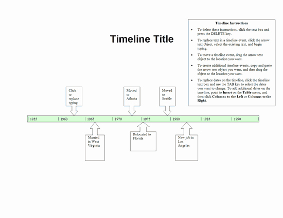 Timeline Template for Word New Timeline Template Word