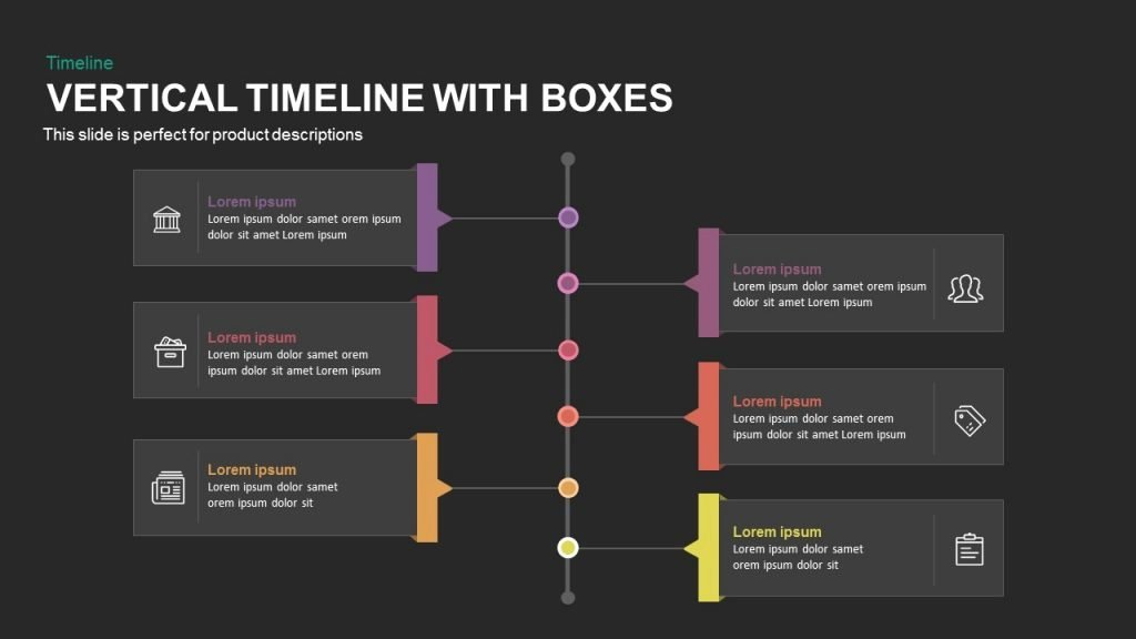 Timeline Templates for Mac New Vertical Timeline with Boxes Powerpoint and Keynote