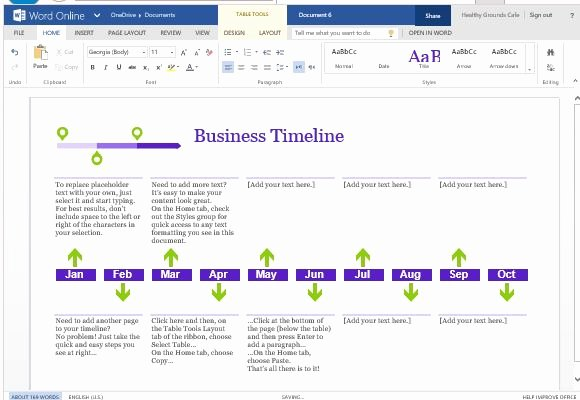 Timeline Templates for Word Beautiful Business Project Timeline Template for Word Line