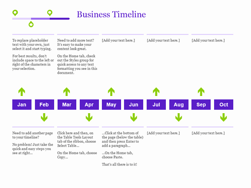 Timeline Templates for Word Fresh Project Timeline