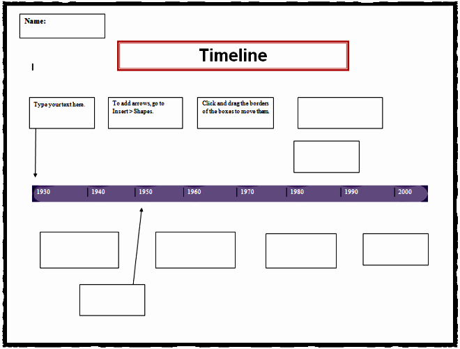Timeline Templates for Word Inspirational Timeline Template