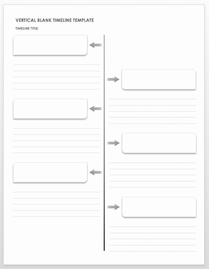 Timeline Templates for Word New Free Blank Timeline Templates