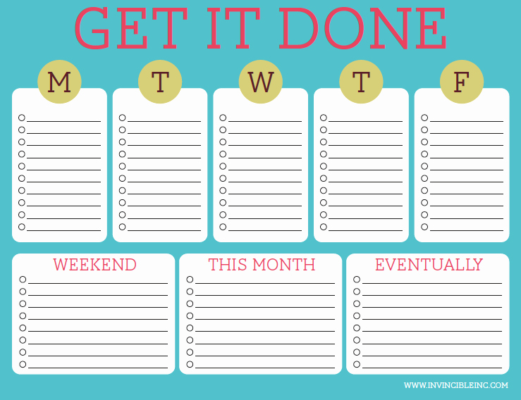 To Do List Template Free New organization and Time Management Part 2 Make A to Do List