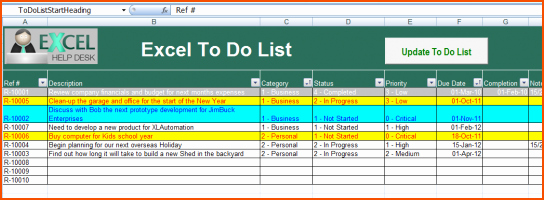 To Do List Templates Excel Awesome 8 Excel to Do List Template Bookletemplate