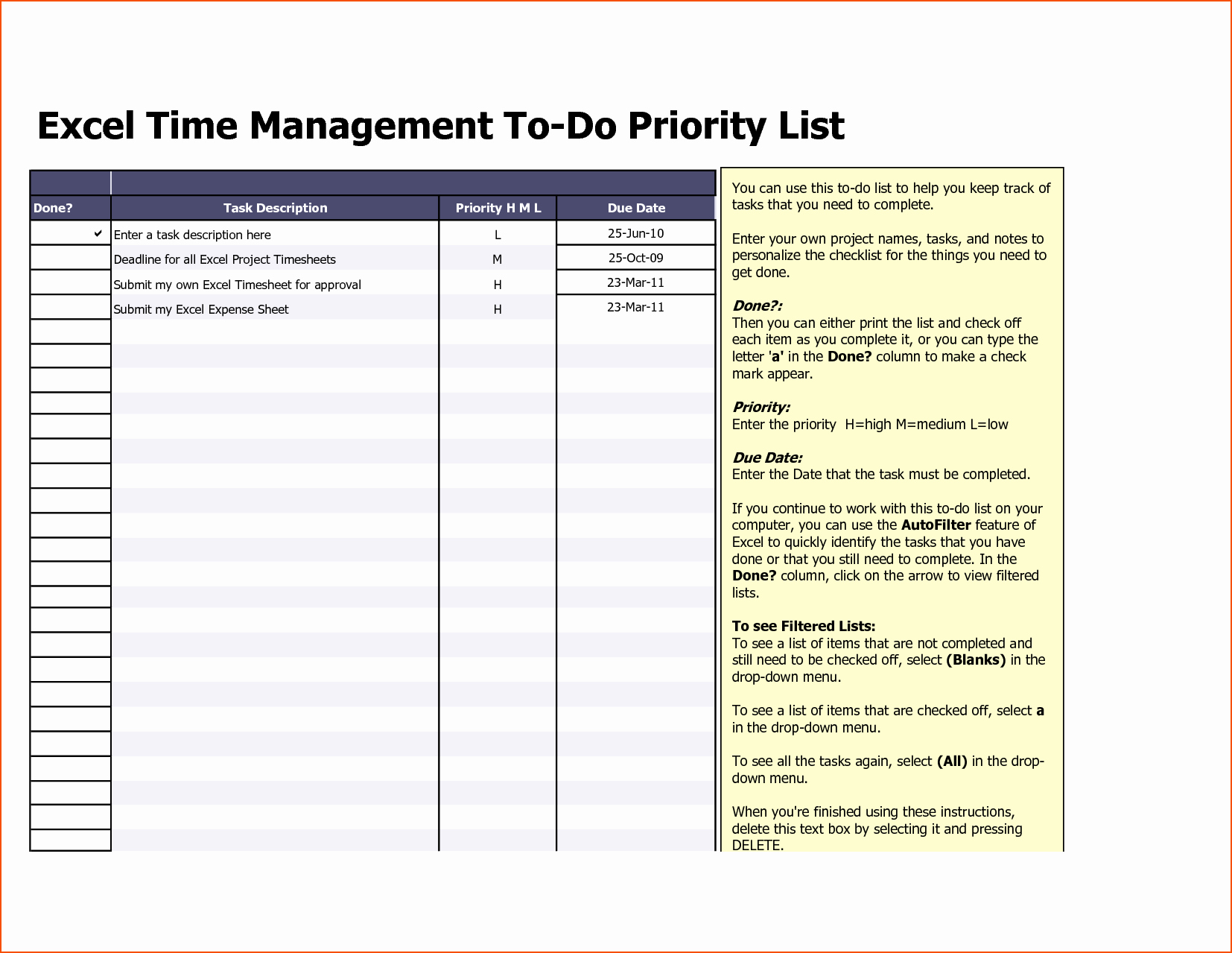 To Do List Templates Excel Lovely 8 Excel to Do List Template Bookletemplate