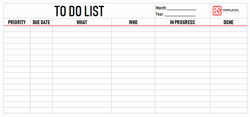 To Do List Templates Excel Lovely Printable to Do List Template – Excel Sample Example Pdf