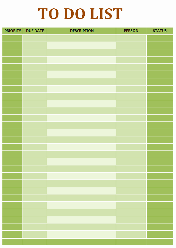 To Do List Word Template Elegant Simple to Do List Ms Word Template