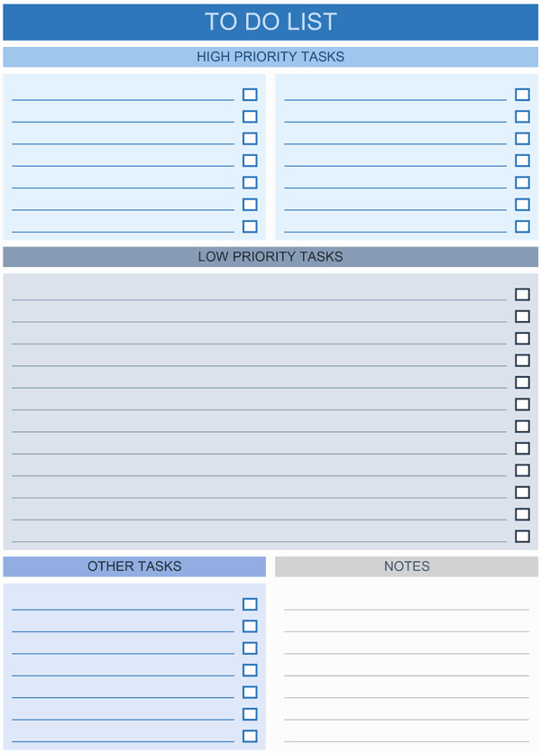 To Do List Word Template Fresh to Do List Templates for Excel
