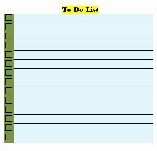 To Do List Word Template Inspirational Free 16 Sample to Do List Templates In Word Excel