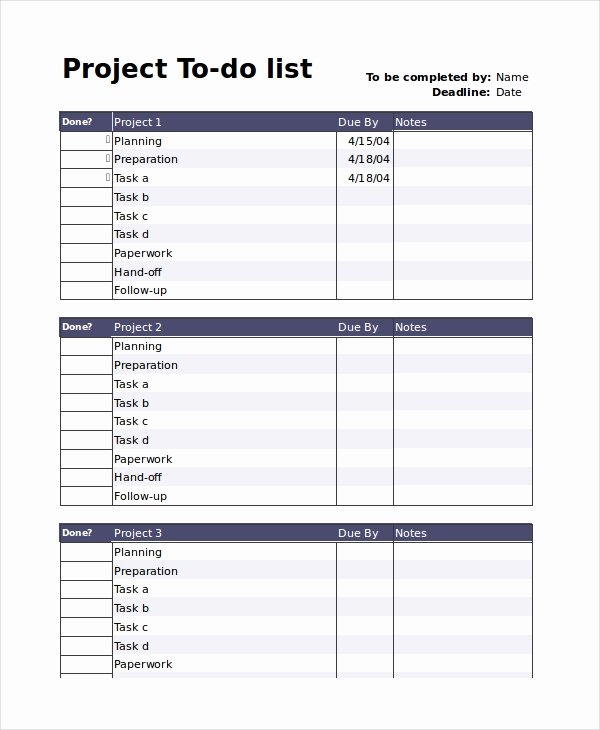 To Do List Word Template Inspirational to Do List 13 Free Word Excel Pdf Documents Download