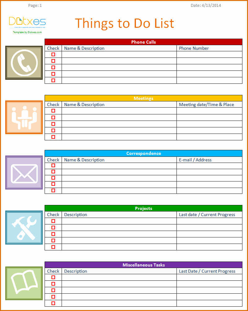To Do List Word Template New 8 to Do List Templates