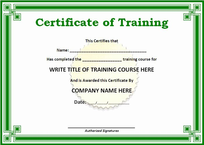 Training Certificate Template Free Awesome 15 Training Certificate Templates Free Download Designyep