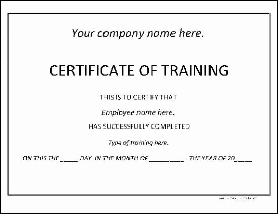 Training Certificate Template Free Awesome 6 Training Certificate Templates Website Wordpress Blog