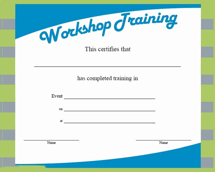 Training Certificate Template Free Awesome Training Certificate Template – 21 Free Word Pdf Psd