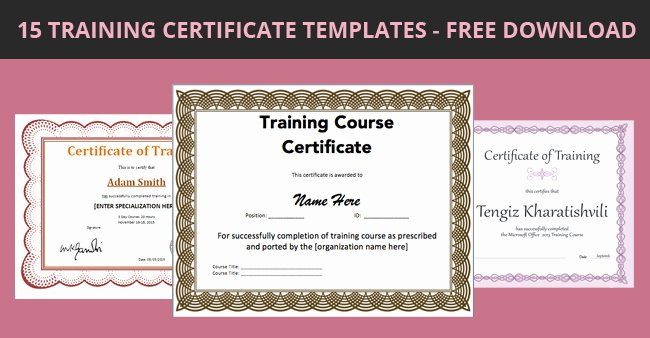 Training Certificate Template Free Beautiful 15 Training Certificate Templates Free Download Designyep
