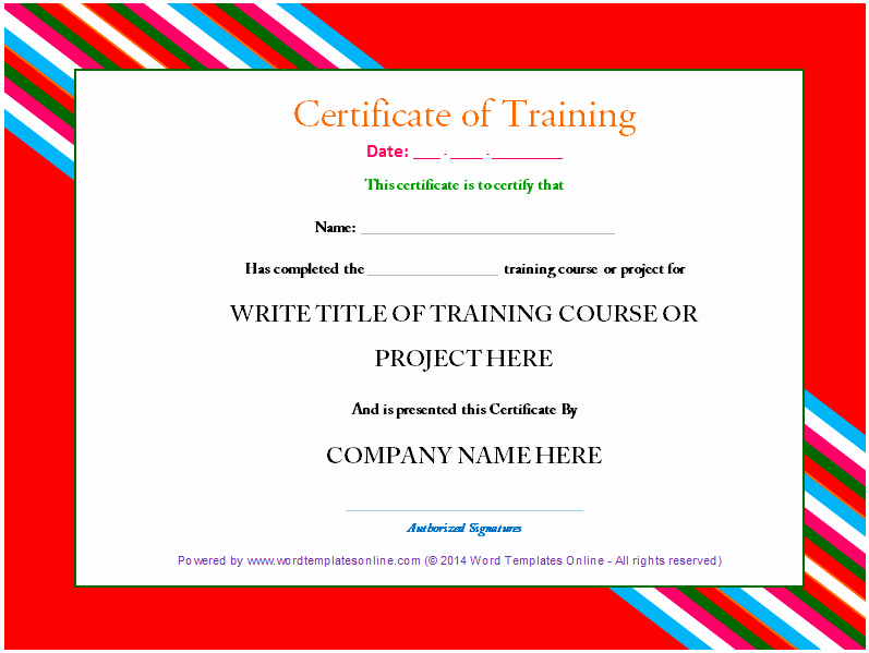 Training Certificate Template Free Best Of Professional Training Certificate Template From Word