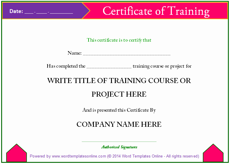 Training Certificate Template Free Best Of Training Certificate Template Microsoft Word Templates