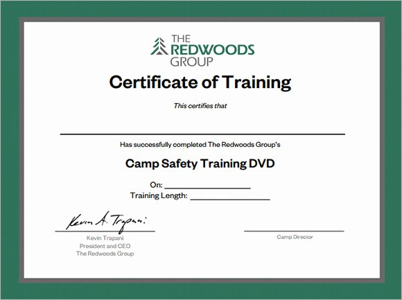 Training Certificate Template Free Best Of Training Certificates Pdf Sample