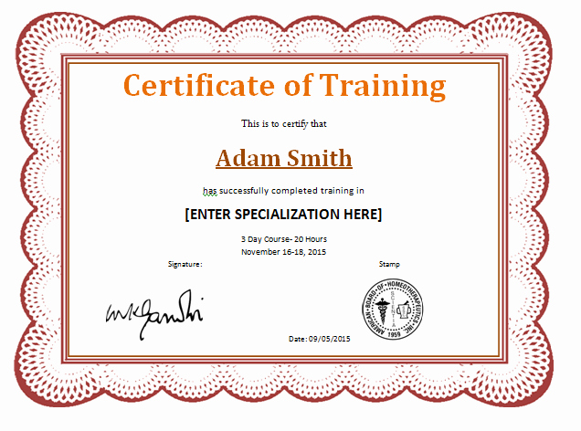 Training Certificate Template Free Fresh 10 Training Certificate Templates