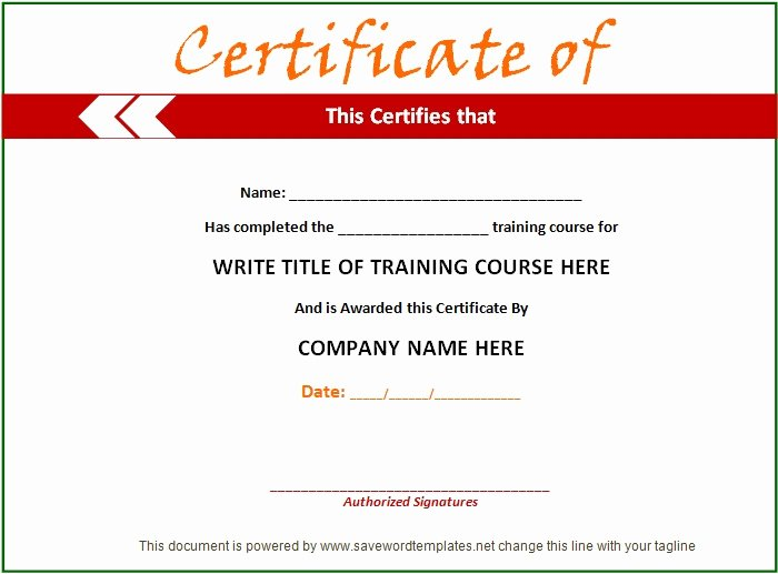 Training Certificate Template Free Fresh Training Certificate Template 21 Free Word Pdf Psd