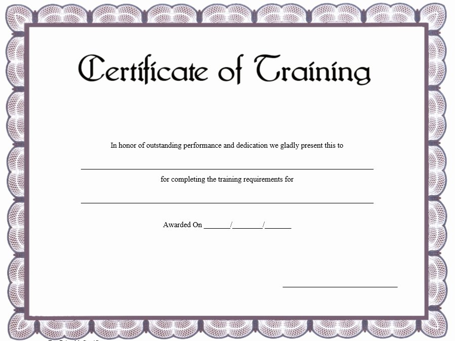 Training Certificate Template Free Inspirational 11 Free Sample Training Certificate Templates Printable