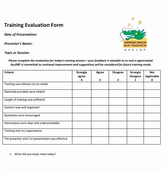 Training Evaluation form Template Best Of Post Training Survey Template – Tucsontheaterfo