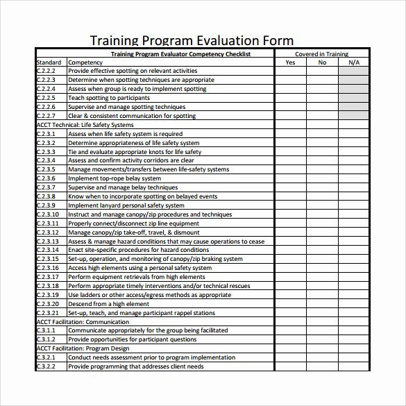 Training Evaluation form Template Inspirational Program Evaluation form 7 Download Free Documents In