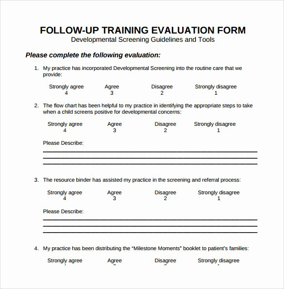 Training Evaluation form Template Unique Free 15 Sample Training Evaluation forms In Pdf
