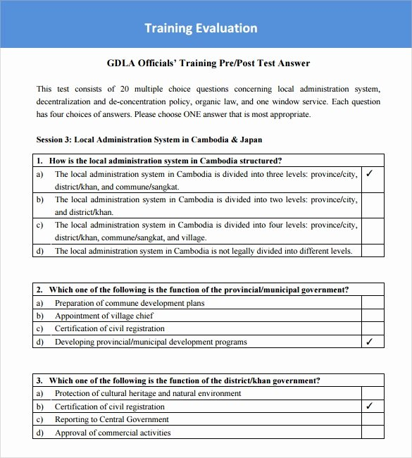 Training Evaluation form Template Unique Sample Training Survey – 14 Example format