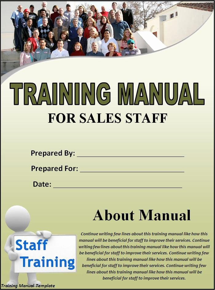 Training Manual Template Free Awesome Training Manual Template