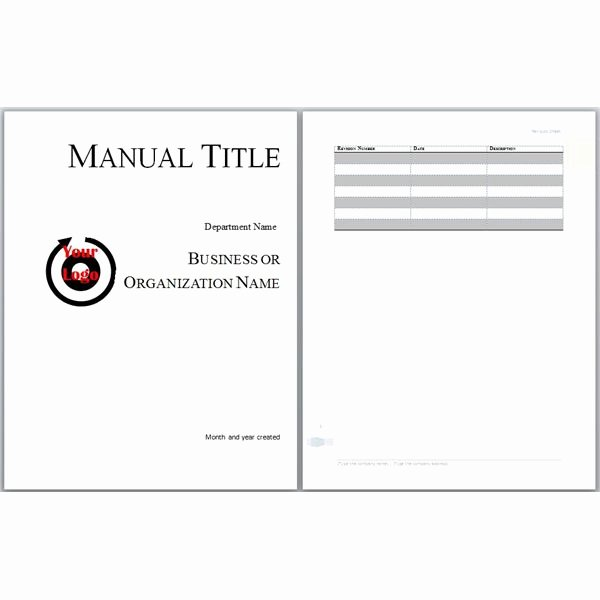 Training Manual Template Free Beautiful Microsoft Word Manual Template Basic and Employment