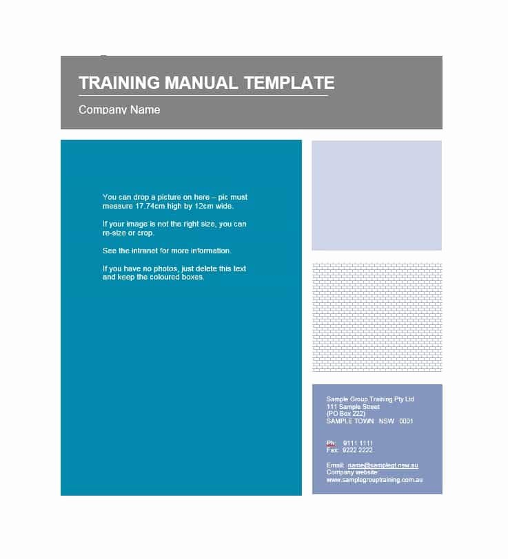 Training Manual Template Free Elegant Training Manual 40 Free Templates & Examples In Ms Word